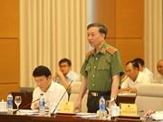 越南公安部长就公安人员违法行为、高利贷现象等问题答复国会代表质询