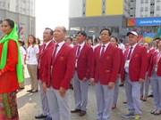 ASIAD 2018:越南体育代表团旗帜升旗仪式