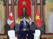 越南国家领导人就越南与加拿大建交45周年向加拿大领导致贺电