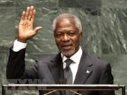 范平明就联合国前秘书长安南去世向联合国秘书长安东尼奥致慰问电