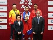 越南举重选手石金俊夺得银牌