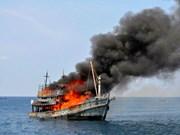 印尼炸沉在其海域非法捕鱼的125艘外国渔船