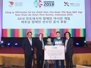 韩国一家化妆品公司成为越南残疾人体育代表团的第一个赞助商