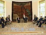 越南国家主席陈大光与埃及总统阿卜杜勒·法塔赫·塞西举行会谈