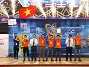越南二号队在2018年亚太大学生机器人大赛夺冠