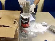 新山一国际机场口岸海关分局成功破获一起从美国运往越南毒品案