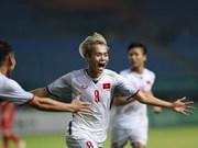 2018年亚运会:国际媒体赞扬越南国奥队的胜利