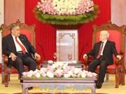 越共中央总书记阮富仲会见多米尼加左派团结运动党秘书长米格尔·梅希亚