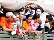 泰国警方抓获非法入境务工的数千名外籍人员