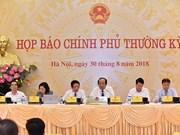越南政府8月份例行新闻发布会: 外国投资者对越南经济充满信心