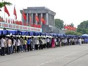 国庆假期前来拜谒胡志明主席陵游客达3.86万多人次