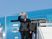 阮富仲总书记启程对俄罗斯和匈牙利进行正式访问