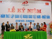 越南与日本建交45周年纪念典礼在永隆省举行