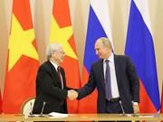 越南与俄罗斯签署多项合作文件