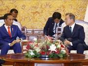 韩国总统与印尼总统举行首脑会谈