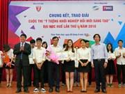 越南顺化大学创新创业倡议大赛颁奖仪式举行 一等奖拿1500万越盾