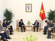 越南政府总理阮春福会见日本外务大臣河野太郎