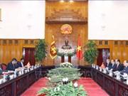 越南政府总理阮春福会见斯里兰卡和韩国客人