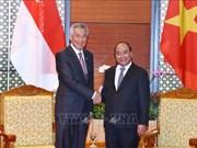 越南政府总理阮春福与新加坡总理李显龙进行会晤