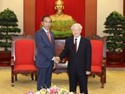 越共中央总书记阮富仲会见印尼总统佐科维多多