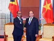 WEF ASEAN 2018:阮春福总理会见东帝汶外交与合作部部长