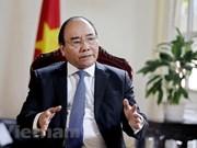 越南政府总理阮春福接受新加坡海峡时报的专访