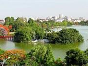 越南首都河内参加世界领先城市目的地奖的竞选