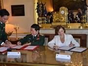 越南与法国签署防务合作联合愿景声明
