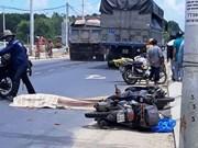 广南省发生一起交通事故     一名外籍女性死亡