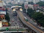 由中国企业承建的越南河内轻轨吉灵—河东线项目正式试运行