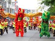 越南中秋节必不可少的一门表演艺术——龙狮麟舞