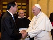 梵蒂冈教皇和巴西领导人就越南国家主席陈大光逝世致唁电