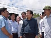 政府副总理郑廷勇视察九龙江三角洲防洪工作