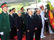 阮富仲等党和国家领导出席国家主席陈大光遗体告别仪式