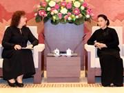 越南国会主席阮氏金银会见俄罗斯国家杜马副主席叶普法诺娃