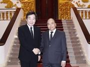 越南政府总理阮春福会见韩国总理李洛渊
