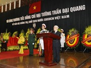 越共中央总书记阮富仲在陈大光同志追悼会上致悼词