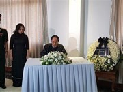越南驻缅甸和韩国大使馆为陈大光主席举行吊唁仪式