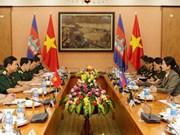 越南和柬埔寨两国加强军队女干部之间的合作