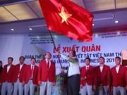2018年亚残会越南体育代表团出征仪式在胡志明市举行