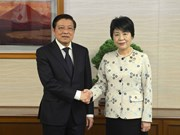 越共中央内政部长潘廷镯访问日本