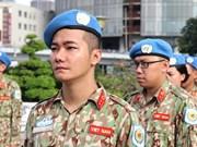 越南参加联合国维和行动  履行国际人道主义崇高的使命