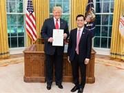 越南驻美国大使: 美国承诺尊重越南政治体制和发展道路