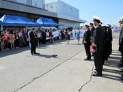 越南海军护卫舰抵达日本大阪府堺市港口