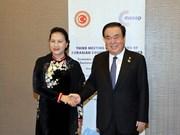 越南国会主席阮氏金银与韩国和白俄罗斯国会领导举行会晤