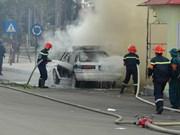 宁平省开展防社会动乱、放暴恐袭击、消防与救护救难处理应急演练