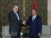 越南政府总理阮春福会见原比利时外交大臣