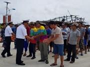 广南省:在长沙群岛海域遇险的43名渔民获救助并已安全上岸