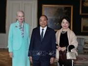 越南政府总理阮春福会见丹麦女王玛格丽特二世