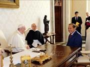 越南政府常务副总理张和平访问梵蒂冈